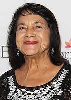 HOLLYWOOD, LOS ANGELES, CA, USA - OCTOBER 09: Dolores Huerta arrives at the Eva Longoria Foundation Dinner held at Beso Restaurant on October 9, 2014 in Hollywood, Los Angeles, California, United States. (Photo by Celebrity Monitor)