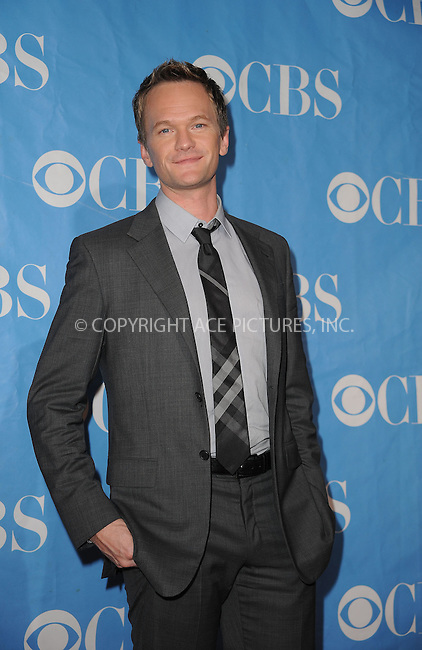 WWW.ACEPIXS.COM . . . . . ....May 20 2009, New York City....Actor Neil Patrick Harris at the 2009 CBS Upfront at Terminal 5 in Manhattan on May 20, 2009 in New York City.....Please byline: KRISTIN CALLAHAN - ACEPIXS.COM.. . . . . . ..Ace Pictures, Inc:  ..tel: (212) 243 8787 or (646) 769 0430..e-mail: info@acepixs.com..web: http://www.acepixs.com
