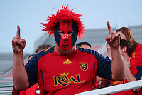 A Real Salt Lake Fan during the Real Salt Lake 4-0 win over DC United at Rice-Eccles Stadium in Salt Lake City, Utah on April 12, 2008