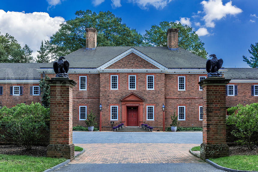 The original mansion house built for Mr. and Mrs. Lammot du Pont Copeland, Mt. Cuba Center, Delaware, USA.