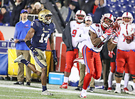 Annapolis, MD - November 11, 2017: Southern Methodist Mustangs wide receiver Courtland Sutton (16) catches a passduring the game between SMU and Navy at  Navy-Marine Corps Memorial Stadium in Annapolis, MD.   (Photo by Elliott Brown/Media Images International)