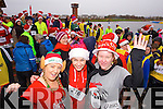 Kerry O'Mahony, Joanna Jankowska, Donna O'Mahony, who took part in the Santa 5k fun run at Tralee Bay Wetlands on Sunday.