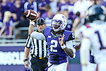 TCU Horned Frogs quarterback Trevone Boykin (2) in action during the game between the Samford Bulldogs and the TCU Horned Frogs at the Amon G. Carter Stadium in Fort Worth, Texas.  TCU leads Stamford 24 to 7 at halftime.