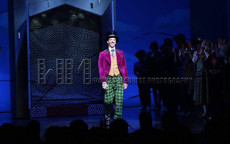 Christian Borle during the Broadway Opening Performance Curtain Call of 'Charlie and the Chocolate Factory' at the Lunt-Fontanne Theatre on April 23, 2017 in New York City.