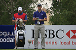 Martin Kaymer and his caddy wait to tee off on the 13th tee during Day 2 Friday of the Abu Dhabi HSBC Golf Championship, 21st January 2011..(Picture Eoin Clarke/www.golffile.ie)