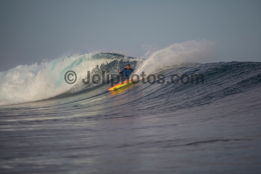 Namotu Island, Fiji ((Sunday, June 7, 2015) Wiggolly Dantas (BRA) - A lay day was called in the Fiji Pro, stop No. 5 on the 2015 WSL Championship Tour, this morning with inconsistent and declining surf on offer at Cloudbreak. There is a projected increase in size and quality for the coming days so there was no rush to start the event. The lay day gave the Top 34 a good chance to practice in the 3'-4' surf.<br />  Photo: joliphotos.com