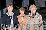 RETIRED: Mary J Murphy, Patricia Ryan and Marian Foley who retired from Tralee Courthouse on Friday after 40years service each.....