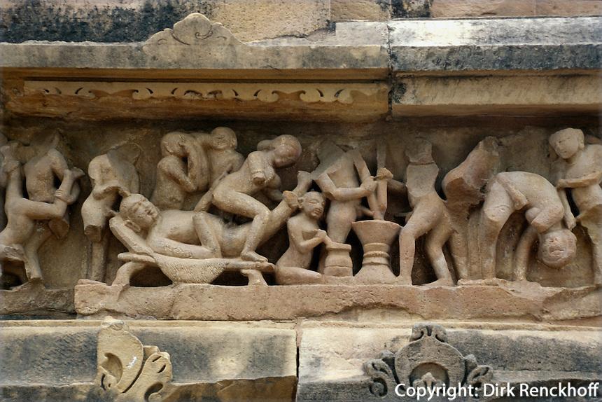 Indien, Khajuraho (Madhya Pradesh), Lakshmana-Tempel (Vishnu) erb.930-50 Lakshmana-Tempel (Vishnu) erb.930-50,  Khajuraho (Madhya Pradesh), Indien, UNESCO-Weltkulturerbe