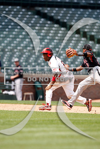 August 8, 2009:  Outfielder Reggie Golden (21) of Team One during the Under Armour All-America event at Wrigley Field in Chicago, Illinois.  (Copyright Mike Janes Photography)