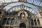 Main Railway Station, Antwerp; Belgium; Europe