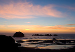 Face Rock at sunset,  Bandon Beach, OR