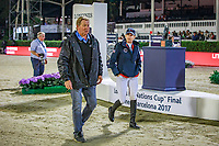during the Longines FEI Nations Cup Jumping Final. 2017 ESP-Longines FEI Nations Cup Jumping Final - CSIO Barcelona. Real Club de Polo de Barcelona. Saturday 30 September. Copyright Photo: Libby Law Photography