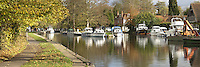 Panoramic view of Hurley Lock on the River Thames in Berkshire, Uk