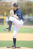 March 17th 2008:  Lance Pendelton of the New York Yankees minor league system during Spring Training at Legends Field Complex in Tampa, FL.  Photo by:  Mike Janes/Four Seam Images