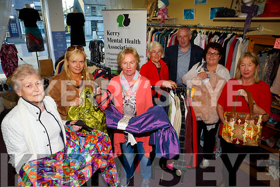 Launching  Kerry's first mental health week initiative at the Second Chance charity shop in Castleisland on Monday were l-r Maureen O'Sullivan, Kate Shanahan, Kerry Mental Health Association, Kathleen Kennedy, Manager Second Chance charity shop, Joan Brosnan, Jimmy Mulligan, Jigsaw Kerry, Mary Lyons, Kerry Mental Health services, Mary Pembroke, Volunteer,