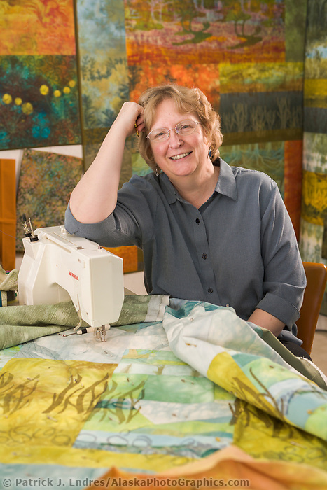 Ree Nancarrow, Alaska quilter and fabric artist, Denali Park, Alaska