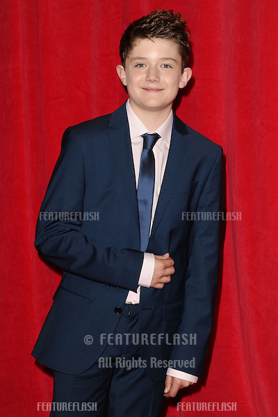Ellis Hollins arriving for the 2014 British Soap Awards, at the Hackney Empire, London. 24/05/2014 Picture by: Steve Vas / Featureflash