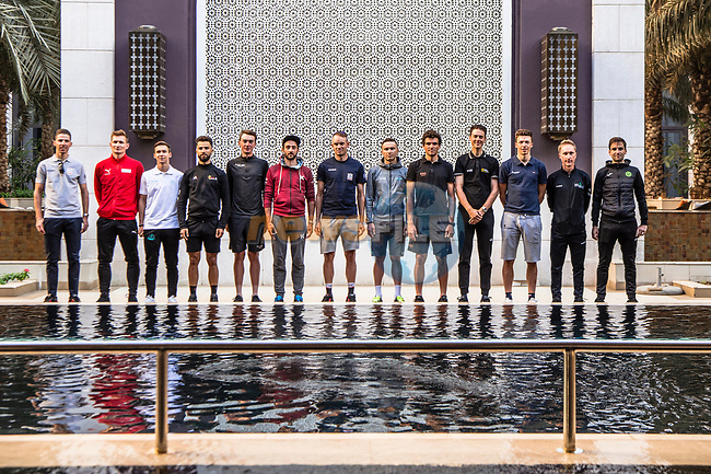 Top riders press conference before the start of 10th Tour of Oman 2019, Muscat, Oman. 15th February 2019.<br /> Picture: ASO/Kåre Dehlie Thorstad | Cyclefile<br /> All photos usage must carry mandatory copyright credit (© Cyclefile | ASO/Kåre Dehlie Thorstad)