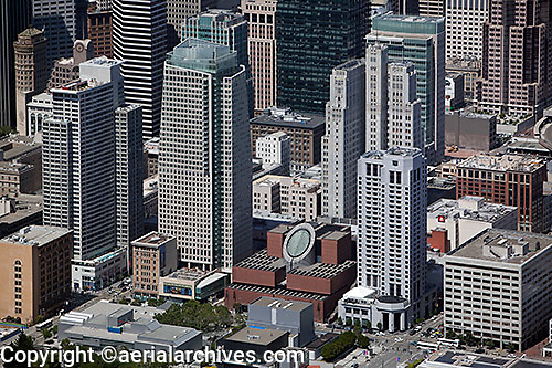 aerial photograph SFMOMA SOMA San Francisco, California