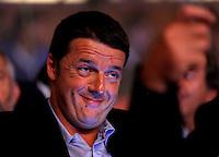 Il sindaco di Firenze Matteo Renzi all'apertura dell'Assemblea Nazionale del Partito Democratico a Roma, 20 settembre 2013.<br /> Florence's Mayor Matteo Renzi attends the opening of the Italian Democratic Party's National Assembly in Rome, 20 September 2013.<br /> UPDATE IMAGES PRESS/Riccardo De Luca
