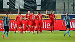 09.06.2020, xtgx, Fussball 3. Liga, Hallescher FC - SV Waldhof Mannheim emspor, v.l. Terrence Boyd (Halle, 13) Jubel, Torjubel, jubelt ueber das Tor, celebrate the goal, celebration  beim Spiel in der 3. Liga, Hallescher FC - SV Waldhof Mannheim.<br /> <br /> Foto © PIX-Sportfotos *** Foto ist honorarpflichtig! *** Auf Anfrage in hoeherer Qualitaet/Aufloesung. Belegexemplar erbeten. Veroeffentlichung ausschliesslich fuer journalistisch-publizistische Zwecke. For editorial use only. DFL regulations prohibit any use of photographs as image sequences and/or quasi-video.