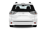 Straight rear view of a 2018 Toyota Sienna SE 5 Door Mini Van stock images