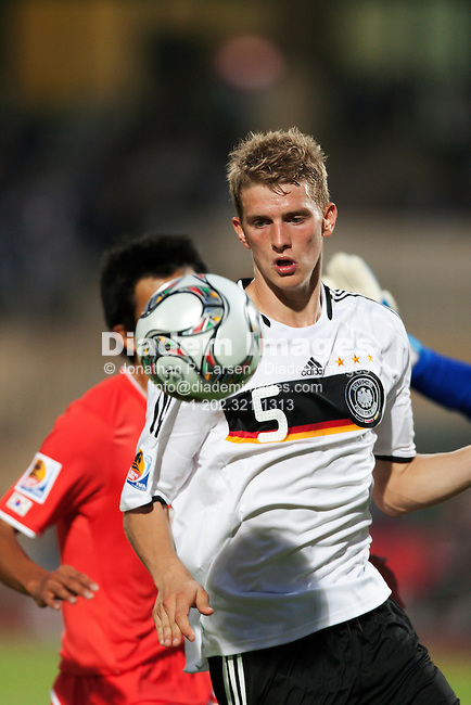 SUEZ, EGYPT - SEPTEMBER 29:  Lars Bender of Germany in action during the FIFA U-20 World Cup Group C match against South Korea at Mubarak Stadium on September 29, 2009 in Suez, Egypt.  Editorial use only.  Commercial use prohibited.  (Photograph by Jonathan Paul Larsen)