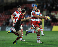 Watford, England. Sione Kalamafoni of Gloucester Rugby in action during the Aviva Premiership match between Saracens and at Gloucester Rugby at Vicarage Road on December 2, 2012 in Watford, England.