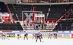 S&ouml;dert&auml;lje 2014-10-23 Ishockey Hockeyallsvenskan S&ouml;dert&auml;lje SK - Malm&ouml; Redhawks :  <br /> Vy &ouml;ver Axa Sports Center med Malm&ouml; Redhawks supportrar och tomma stolar p&aring; l&auml;ktaren under matchen mellan S&ouml;dert&auml;lje SK och Malm&ouml; Redhawks <br /> (Foto: Kenta J&ouml;nsson) Nyckelord: Axa Sports Center Hockey Ishockey S&ouml;dert&auml;lje SK SSK Malm&ouml; Redhawks