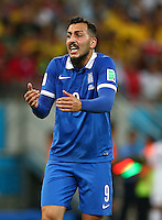 Konstantinos Mitroglou of Greece gestures