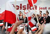 BIALYSTOK, POLAND, JULY 1, 2010:.Jaroslaw Kaczynski and his supporters, on his presidential campaign rally..(Photo by Piotr Malecki / Napo Images)..BIALYSTOK, 1/07/2010:.Jaroslaw Kaczynski i jego zwolennicy podczas wiecu w centrum Bialegostoku. .Fot: Piotr Malecki / Napo Images.