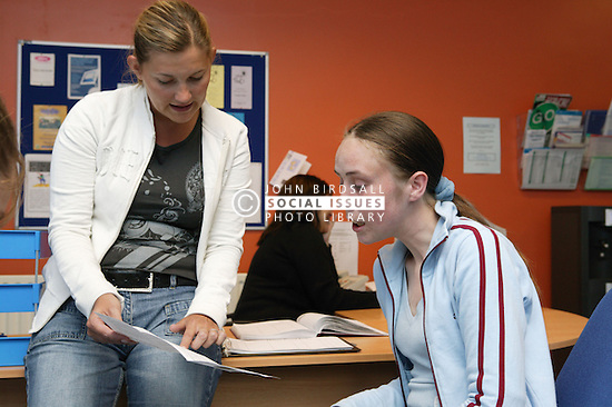 Service User and Support Worker in discussion at a Substance Misuse project in Nottingham,