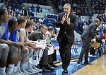 January 20, 2016 - Colorado Springs, Colorado, U.S. -  Air Force head coach, Dave Pilipovich, exhorts the Falcon bench during an NCAA basketball game between the Colorado State University Rams and the Air Force Academy Falcons at Clune Arena, United States Air Force Academy, Colorado Springs, Colorado.  Colorado State defeats Air Force 83-79.