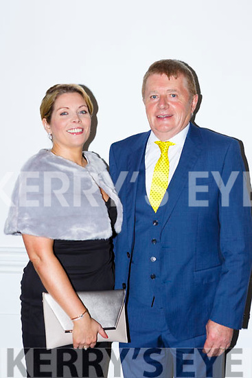 Jack and Tracy Fitzpatrick Caherciveen at the Ring of Kerry cycle cheque presentation in the INEC on Friday