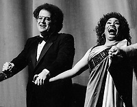 Maestro James Levine and Leontyne Price 1982<br /> Photo By Adam Scull/PHOTOlink.net