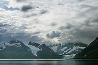 Cataract and Surprise glacier, Chugach National Forest, Chugach mountains, Prince William Sound, Alaska.