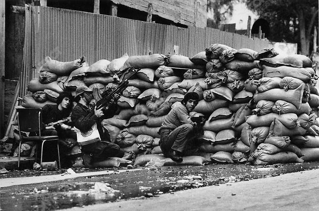 Christian gunmen, Beirut, Lebanon, 1976