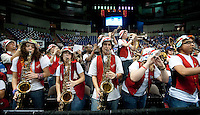 SPOKANE, WA - MARCH 26, 2011: Stanford band, Stanford Women's Basketball vs University of North Carolina, NCAA West Regionals on March 26, 2011.
