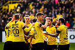 11.05.2019, Signal Iduna Park, Dortmund, GER, 1.FBL, Borussia Dortmund vs Fortuna D&uuml;sseldorf, DFL REGULATIONS PROHIBIT ANY USE OF PHOTOGRAPHS AS IMAGE SEQUENCES AND/OR QUASI-VIDEO<br /> <br /> im Bild | picture shows:<br /> der BVB jubelt ueber den Treffer zum 1:0 durch Christian Pulisic (Borussia Dortmund #22), <br /> <br /> Foto &copy; nordphoto / Rauch