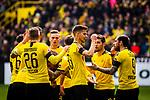 11.05.2019, Signal Iduna Park, Dortmund, GER, 1.FBL, Borussia Dortmund vs Fortuna Düsseldorf, DFL REGULATIONS PROHIBIT ANY USE OF PHOTOGRAPHS AS IMAGE SEQUENCES AND/OR QUASI-VIDEO<br /> <br /> im Bild | picture shows:<br /> der BVB jubelt ueber den Treffer zum 1:0 durch Christian Pulisic (Borussia Dortmund #22), <br /> <br /> Foto © nordphoto / Rauch
