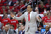 RALEIGH, NC - JANUARY 9: Head coach Kevin Keatts of North Carolina State University during a game between Notre Dame and NC State at PNC Arena on January 9, 2020 in Raleigh, North Carolina.
