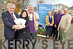 A new rural scheme has been set up by NEKD training farm suppliers to be vigilant for signs of rural isolation amongst farmers. Front l-r were: Richard Hartnett(Castleisland Mart ), Hillary Egan (NEKD), John Stack (Chairman of the Farm Family Support Working Group. Back l-r were; Geraldine Kelly, (Rural Social Scheme Supervisor), Edward Breen (ICMSA), John Dalton (IFA), Tim McEllistrim (Listowel Mart).