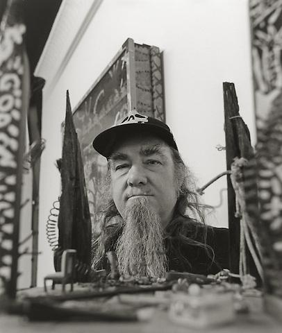 Clayton Patterson, 2007.  Painter, sculptor, writer, videographer, community activist.