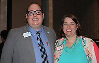 NWA Democrat-Gazette/CARIN SCHOPPMEYER Tyler Clark and Carrie DeVore attend the SPSF Benton County luncheon.
