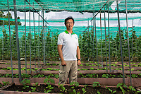 Yuan-Hung Lo (Roy), acting leader of the Taiwan Technical Mission. The farm is part of a program of assistance provided by Taiwan. Tuvalu has poor quality soil throughout its islands and atolls resulting in few vegetables and fruits being available for local to eat. The farm sells vegetables to locals twice a week. Located in the South West Pacific Ocean, Tuvalu is the world's 4th smallest country and is one of the most vulnerable to climate change impacts including sea level rise, drought and extreme weather events. Tuvalu - March, 2019.