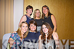 Valentia ladies at the Rowing Social in the Ring of Kerry Hotel on Saturday night pictured here front l-r; Emma Wallace-Shanahan, Meabh Cournane, Amy Winston, back l-r; Martina Houlihan, Marianne O'Shea & Lisa Foran.