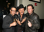Costas Mandylor and Randy Jones (Village People) & Louis Mandylor at the Gala Awards Ceremony of the 2008 Hoboken International Film Festival which concluded  with Billy Dee Williams being presented the Lifetime Achievement Award and then nominees and winners were announced on June 5, 2008 at Pier A Park, Hoboken, New Jersey.  (Photo by Sue Coflin/Max Photos)