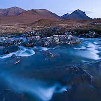 Red Cuillin and river, near Sigachan, Isle of Skye, Scotland