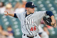Reno Aces  starting pitcher Wes Roemer against the Round Rock Express on Friday May 21st, 2010 at Dell Diamond in Round Rock, Texas.  (Photo by Andrew Woolley / Four Seam Images)