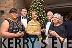 Donna Heaslip, David Heaslip, Geraldine Hurley, Raymond Heaslip, Leona Heaslip at the New Year's Eve Ball at the Fels Point Hotel on Wednesday
